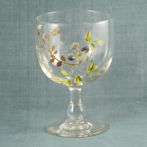 V 815 -Très grand verre de mariage XIXe
