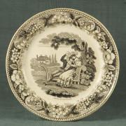 (Français) F 1784 - Assiette 1840 Montereau>