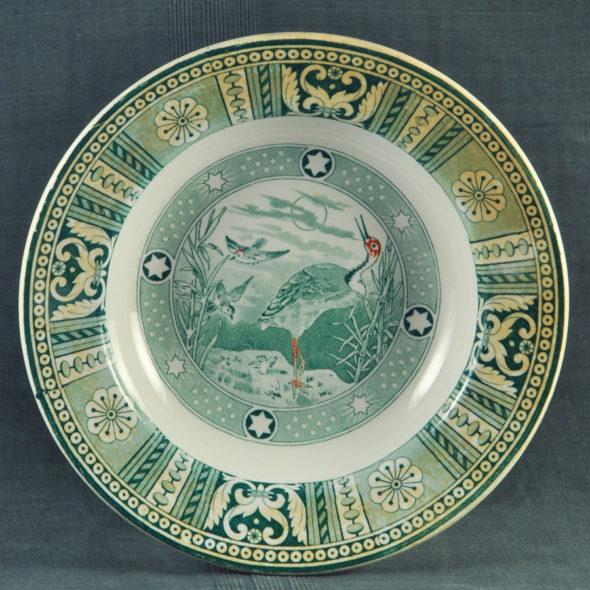 F 1909 – Assiette sarreguemines XIXe