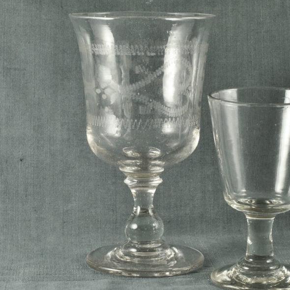 Très grand verre de mariage XIXème – V 1137