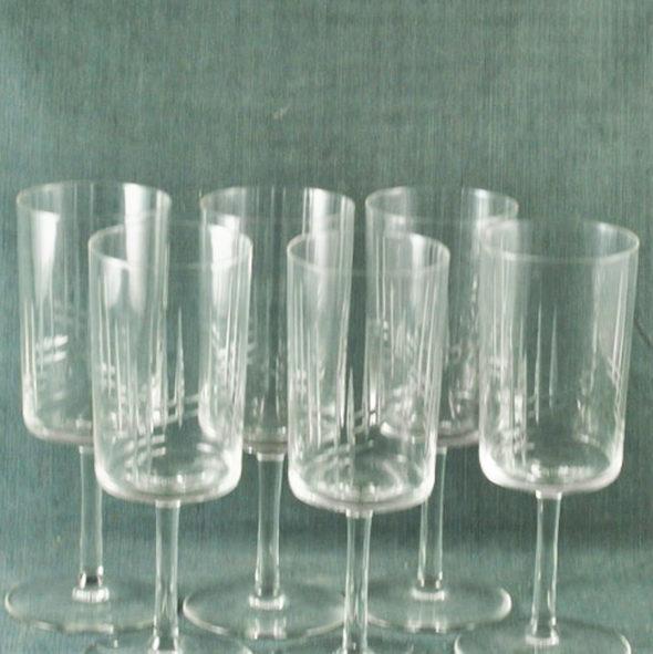 6 verres à vin 1960 en cristal – VT 642