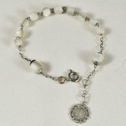 Bracelet Argent et nacre R-160