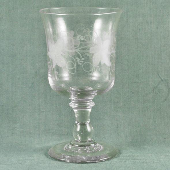 Très grand verre de mariage XIXème – V 1142