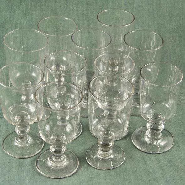 11 verres XIXème – V 1181