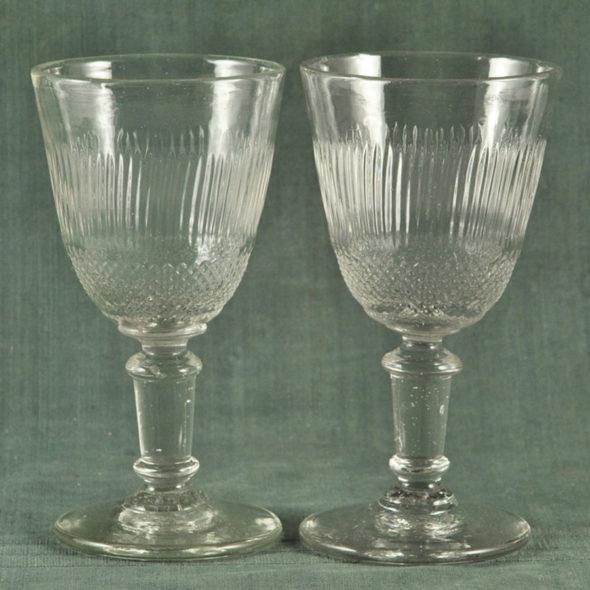 2 grands verres XIXème – V 1182