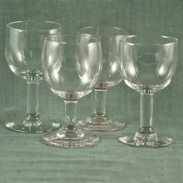 4 verres XIXème – V 1206
