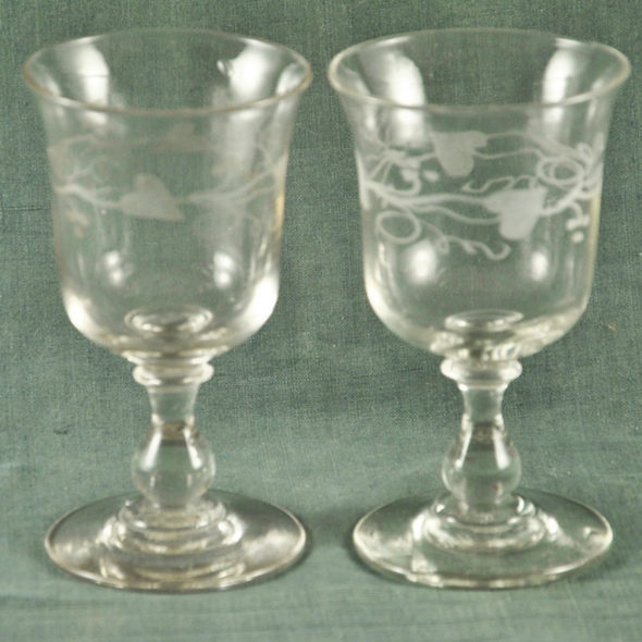 2 grands verres XIXème – V 1249